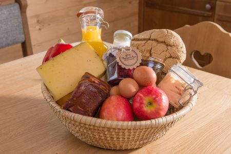 Almfrühstückskorb, Almhütten am Hauser Kaibling, Prenner Alm