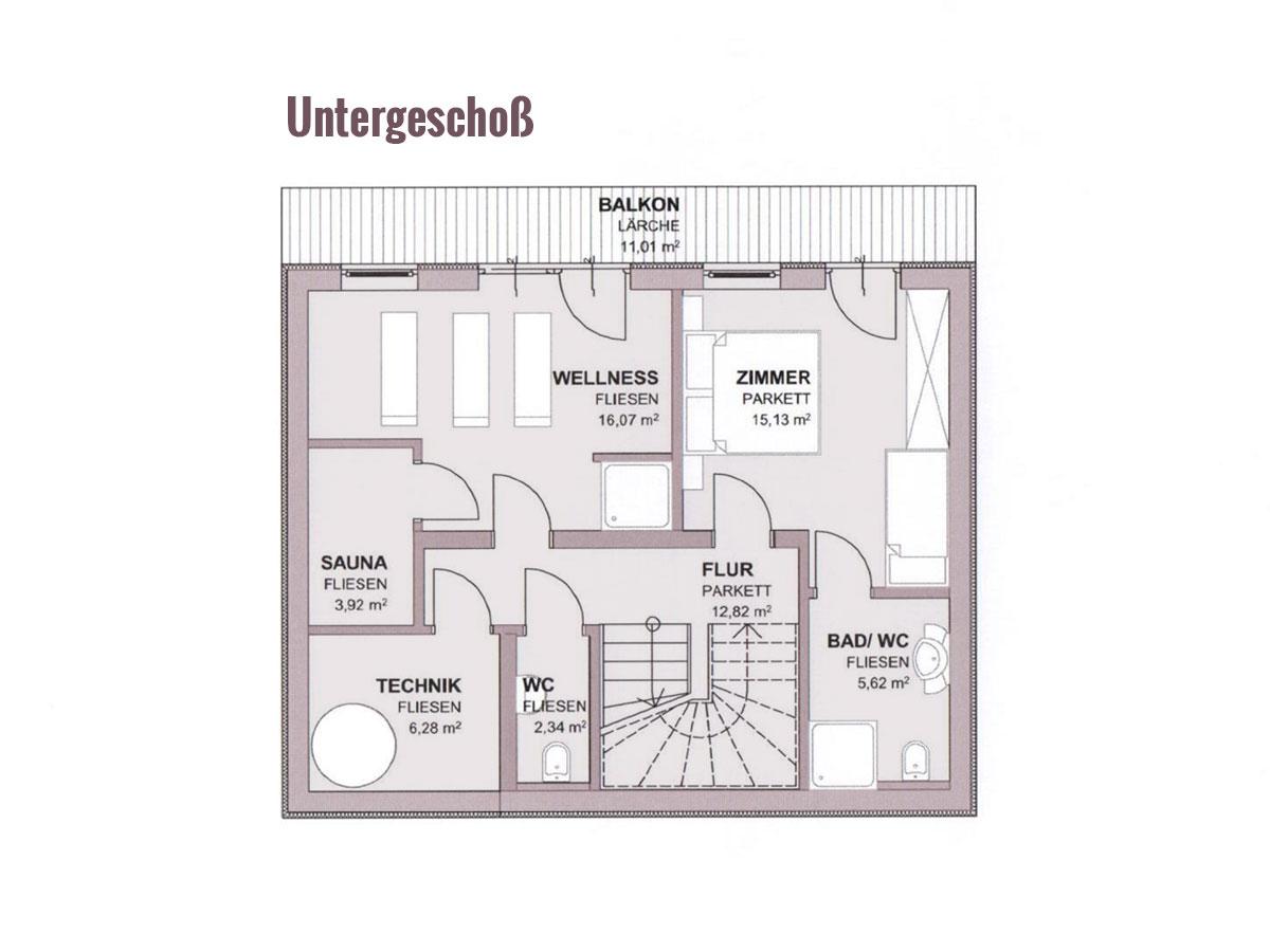 Prenner Alm - Grundriss Dachgeschoss